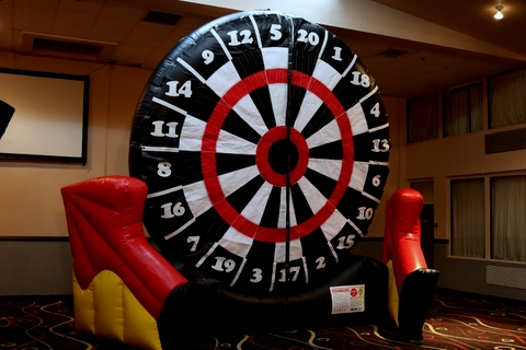 INflatable Dart Board, Use Soccer Balls to Score you Points