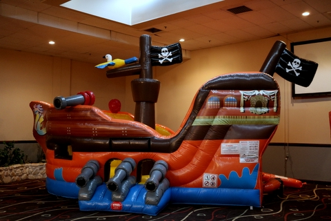 Pirate Ship Small Slide in Back and Bounce Area