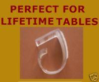 "1 1/2""-2 1/2"" Table Clips For Larger Plastic Tables Velcro"