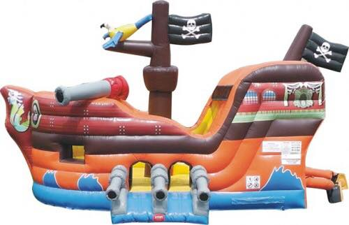 Pirate Ship Inflatable with Slide