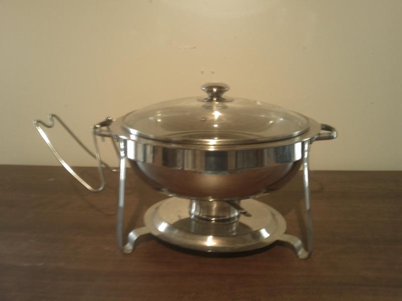 Round Chaffing Pan, Chaffer, Rentals, Catering Equipment,
